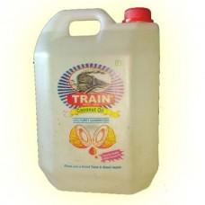 Train Brand Coconut Oil ಟ್ರೈನ್ ಶುದ್ಧವಾದ ಕೊಬ್ಬರಿ ಎಣ್ಣೆ. 5ltr can