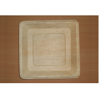 Plate Square Areca Leaf | Pack of 25 PCS